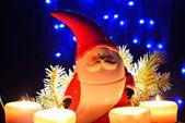 サンタ クロースの置物でクリスマスの装飾 — ストック写真