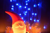 Christmas decoration with Santa Claus Figurine — Stock Photo
