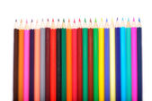 Colored pencils isolated on white background — Stock Photo
