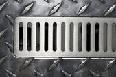 The surface of the metal air vent — Stock Photo
