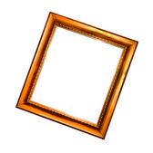 Old picture frame isolated on white background — Stock Photo
