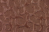 Cinnamon synthetic leather with embossed texture — Stock Photo