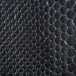 Black synthetic leather with embossed — Stock Photo
