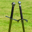 Two medieval sword — Stock Photo