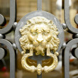 Stock Photo: Old golden door handle