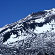 Stock Photo: Snow-covered mountain and deep blue sky Tenerife