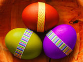 Easter eggs in a bowl — Stock Photo