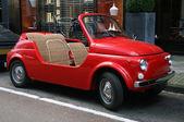 Classic little red italian car — Stock Photo