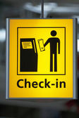 Information check in sign — Stock Photo