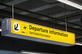 Departure information — Stock Photo