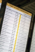 Arrival Departure Board — Stock Photo