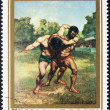 Hungarian post stamp — Stock Photo #23769233