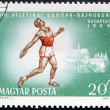 Athlete on a stamp — Stock Photo