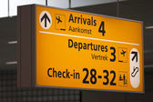 Airport information — Stock Photo