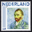 Poststamp shows a portrait painted by Vincent van Gogh — Stock Photo