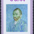 Stamp with a portrait of vincent van gogh — Stock Photo