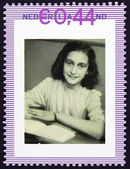 Portrait of anne frank schoolgirl — Stock Photo