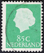 Vintage dutch postage stamp — Stock Photo