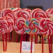 Stock Photo: Colored lollipop in row