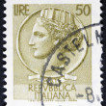 Vintage italian stamp — Stock Photo