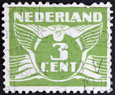 Vintage dutch stamp — Stock Photo