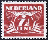 复古荷兰邮票 — 图库照片