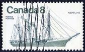 Loď na moři — Stock fotografie