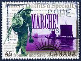 Vintage post stamp — Stock Photo