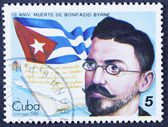 Famous people on a stamp — Foto de Stock