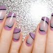 Female hands with beautiful manicure in gentle tones. — ストック写真 #43673667