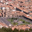 Stock Photo: Cusco plazwith church