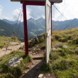 Open door in the alps - Stock Photo