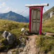 Door in the alps — Stock Photo
