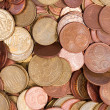 Stock Photo: Euro coins top view close