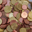 Stock Photo: Euro coins top view