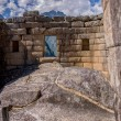 Machu picchu temple of the sun inside — Stock Photo