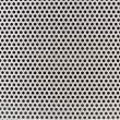Silver mesh of a loudspeaker - Stock Photo