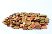 Pile of Euro coins — Stockfoto
