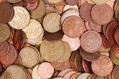 Euro coins top view close — Foto Stock
