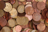 Euro coins top view — Stock Photo