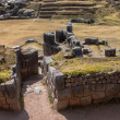 Doorway at Sacsayhuaman top view - Stock Photo