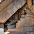 Stock Photo: Machu picchu chamber under temple of sun in HDR