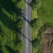 Stock Photo: Country road from directly above
