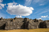Sacsayhuaman with beautiful clouds — Stock Photo