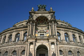 Semper opera house dresden Allemagne faible angle — Photo