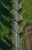 Country road from directly above — Stock Photo