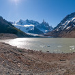 Stock Photo: Cerro Torre from close to laguna