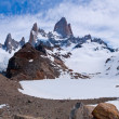 Fitz Roy from to the laguna PANORAMA — Stock Photo