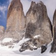 Stock Photo: Torres del paine in ChileNational Park detail