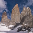 Torres del paine in Chilean National Park detail — Stock Photo